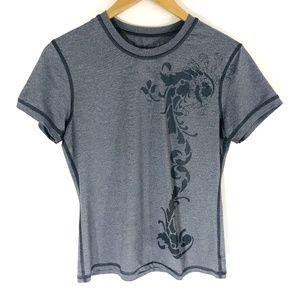Prana   Gray Tee Shirt Womens (Q05)